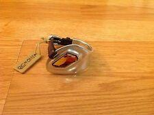"Nwt Uno de 50 Silvertone/Leather Bracelet w/ Multi Color Swarovski  $275 ""Insom"