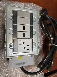 Legrand AD3-2SZ-M Furniture Power Receptacle 3 Gang Outlet Switch & 2 USB Port +