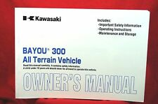 2002 Kawasaki Bayou  KLF300-B15 ATV Owners Manual-OEM- Excellent Condition