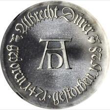 1971 East Germany Silver 10 Marks, NGC MS 65, Durer, KM 31
