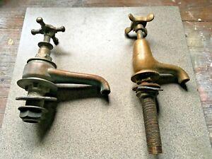 Two antique brass taps,Edwardian/Victorian.