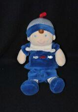 Peluche doudou poupée garçon MOTS D'ENFANTS LECLERC bleu poisson 25 cm NEUF