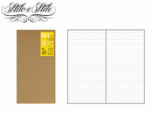 Midori Lined Notebook | Refill Midori 001 | Traveler's Notebook Regular Size