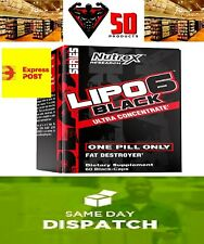 NUTREX LIPO 6 BLACK ULTRA CONCENTRATE | Thermogenic, Fat Burner+ Sample