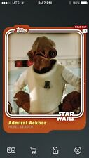 Topps Star Wars Digital Card Trader Smuggler's Den Admiral Ackbar Base Variant