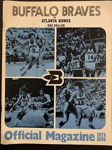Buffalo Braves Official magazine 1973 1974 Vs Atlanta Hawks