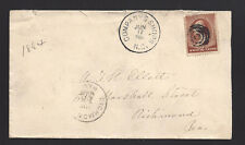 "COMPANYS SHOPS, NORTH CAROLINA COVER,1884. DPO: ALAMANCE 1858/87.""SR/7 RARE CL."""