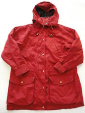 Eddie Bauer Womens Red Outdoors Jacket Parka with Detachable Hood (S)