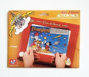 Vtg. Disney Etch a Sketch Adventures in Disneyland Action Pack Overlay Funscreen