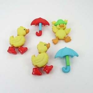 Childrens Buttons - Puddle Jumpers - Duck Novelty Buttons Ducks Craft Sewing