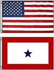 3x5 Usa American Flag & Military 1 Service Star Flag 3 x 5 Wholesale Lot Flags