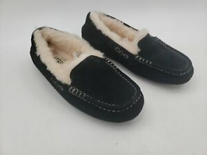 UGG ANSLEY Slippers 3312 BLACK Womans 5 New Leather