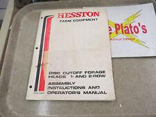 Hesston Farm Equipment Disc Cutoff Forage Heads 1 & 2 Row Manual