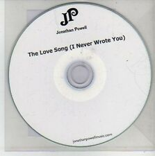 (CH476) Jonathan Powell, The Love Song (I Never Wrote You) - 2011 DJ CD