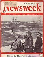 1940 Newsweek May 13 - $1 Million reward-Hitler Capture