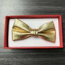 Gold Metallic Bow Tie Baby Toddler Boys Girls Children Infant Formal Adjustable
