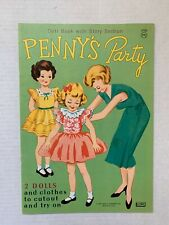 VINTAGE - Penny's Party Paper Doll Book UNUSED - Lowe 1965
