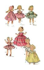"Ginny Muffie an Alexander-Kins 8"" Doll Clothing PATTERN 1372 Dress Coat Bonnet"