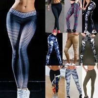 Women Sports Gym Yoga Workout High Waist Running Pants Fitness Stretch Leggings