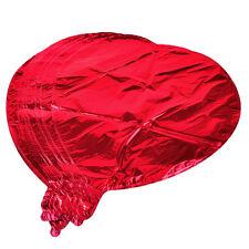 "10"" Love Heart Foil Helium Balloons Wedding Party Birthday Celebration 10pcs Red"