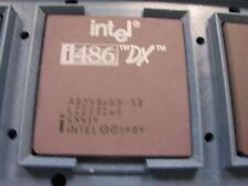 Intel A80486DX-33Mhz Gold Ceramic Processor Chip SX419 i486 A80486 80486 486 1pc
