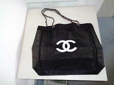 CHANEL VIP Gift Shopper/Tasche Mesh CC Logo schwarz/silber Neu!!