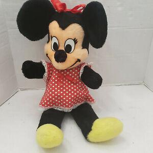 "Vintage Huge California Walt Disney Characters Minnie Mouse Plush Doll 24"" 60's"