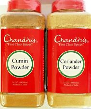 Coriander Powder & Cumin Powder-14 Oz (400 g) X 2 Jars Chandru's Combo Pack 28Oz