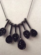 Kenneth Cole  Black 6  Spike Necklace NWT $55 #132C