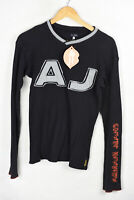 ARMANI Mens T Shirt Top AJ SPELL OUT V NECK Long Sleeve SUPER SLIM Fit Large P65