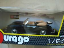 B BURAGO PORSCHE 356 B CABRIOLET BLACK 1/24 IN BOX