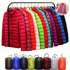 Women's Packable Down Stand Collar Ultralight Coat Winter Jacket Hoodie Puffer