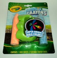 CRAYOLA Washable Sidewalk Crayons Bold Color Wide Writer Included NIP