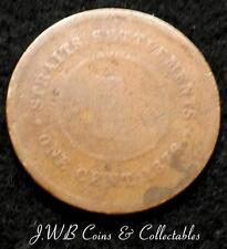 1876 Queen Victoria Straits Settlements 1c One Cent Coin