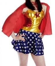WOMEN SEXY SUPER HERO MISS AMERICA FANCY DRESS COSTUME SET ONE SIZE-6-10