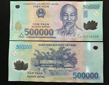 New listing 1,000,000 Vietnamese Dong Vnd - Two 500,000 Notes Fast Free Ship