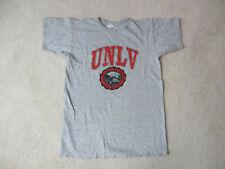 Vintage Champion Unlv Rebels Shirt Adult Large Gray Red Football Mens 90s *