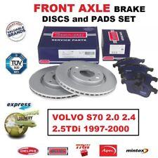 Para Volvo S70 2.0 2.4 2.5TDi 1997-2000 Eje Delantero Freno Pastillas + Discos (
