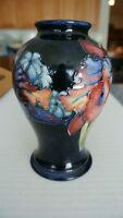 "MOORCROFT Art Pottery Circa 1950's Vase Cobalt Blue Signed by Walter 6"" EC"