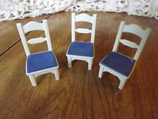 Playmobil Victorian Grand mansion Kitchen Chairs Blue and White