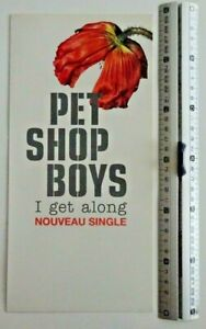 PET SHOP BOYS : I GET ALONG ▓ FRENCH ONLY! LAMINATED PROMO BOOKLET ▓