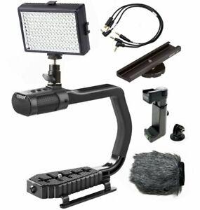 Sevenoak MicRig Video Bundle with Grip Handle, Stereo Microphone & LED Light