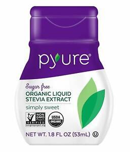 SWEETENER Pyure Organic, Liquid, Stevia Extract 200 Servings 1.8 fl oz Sugar Sub