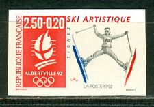 France Olympische Spiele Olympic Games 1992 Imperforated Artistic Skiing MNH