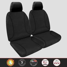 Custom Black Canvas Front Seat Covers For HOLDEN RODEO RA DX DUAL CAB 2004-2007