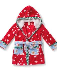 Matilda Jane SILVER PIECES Robe SMALL 4 6 Dot Plush Hooded Bath Holiday NWT