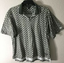 Vintage 90s Nike Golf Men's 1/4 Zip S/S Geometric Abstract Print Polo Shirt Sz L