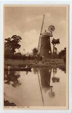 ARKLEY MILL, WINDMILL RESTORED 1930: Hertfordshire postcard (C51460)