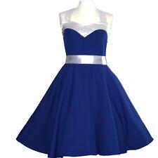 Rockabilly 50er   Kleid Petticoat Pin Up Party Baumwolle L 59-47