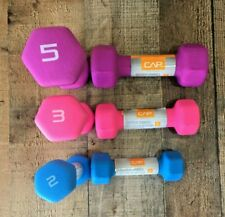 CAP Neoprene Hex Dumbbell Weights Set Bundle of 5, 3, & 2 lb Pound Pairs 20lbs